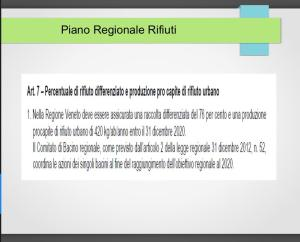 Dal piano Regionale Veneto dei rifiuti